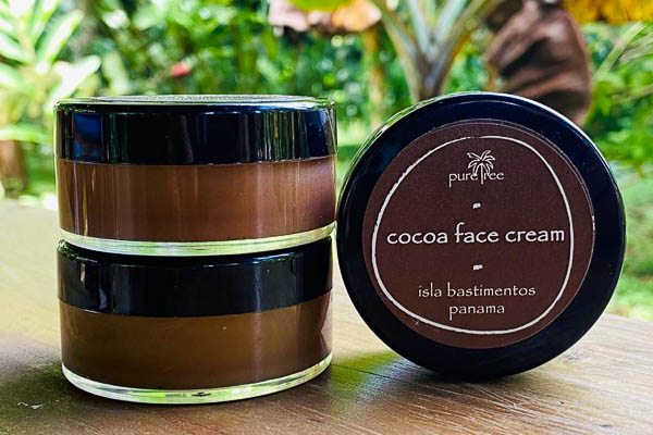 The cocao face cream from up in the hill eco lodge in Panama