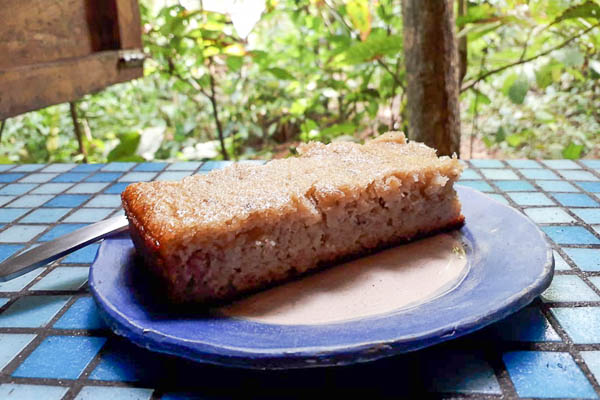 The banana bread from Up in the Hill is the favorite specialty of the guests.
