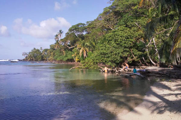 Visiting this beautiful beach is part of the Up in the Hill Experience on Isla Bastimentos