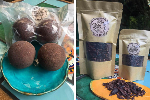 Up in the hill gift shop has cacao to buy on Isla Bastimentos.