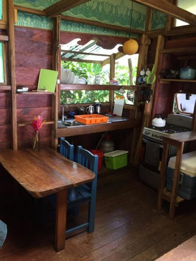 The kitchen of the Up in the Hill Eco Lodge in Panama.